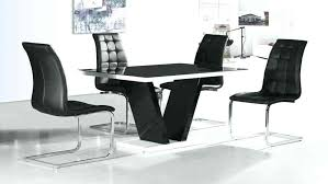 black glass dining table round table black glass high gloss dining table and 4 chairs inside
