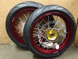 warp 9 supermoto wheels with tires cycle house
