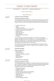 Resume Examples For Customer Service Manager Examples Of Resumes