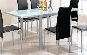 Tables En Verre Avec Rallonges Table De Cuisine En Verre Avec Table
