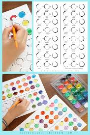 Color Mixing Chart Six Printable Pages For Learning About