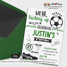 Soccer Party Invite Soccer Birthday Party Invitations All Star Sports Birthday Party Printable Invitations Watercolors Birthday Invitations