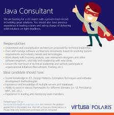 java consultant a job that matters job description