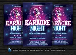 Karaoke Night Flyer Template Karaoke Night Flyer Templates Creative Market 23