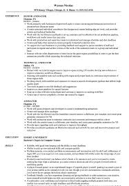 85 Animator Resume Sample Download 3d Animator Resume Sample As