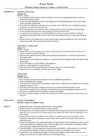 Animator Resume Samples Velvet Jobs