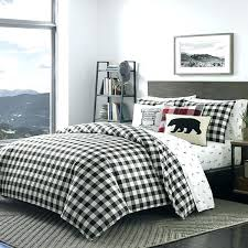 black white buffalo check bedding checked bedding black plaid king size duvet cover set white checked