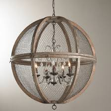wire sphere crystal chandelier large