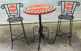 coca cola table antique coca cola table and chairs