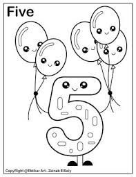 Looking for number counting flashcards? Number 5 Holding Balloons Coloring Page Preschool Coloring Pages Coloring Pages Numbers Preschool