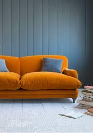 Orange Living Room Furniture Pudding Sofa The Shape Comfy Sofa And Velvet
