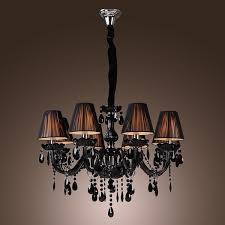 black crystal chandelier luxury modern black chandelier crystal living 8 lights