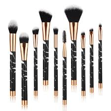 beauty kate marble makeup brushes 10 pcs makeup brush set premium face eyeshadow eyebrow blush contour foundation fluffy crease cosmetic brush set for
