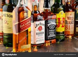 132218758 – Monticello © Composition Popular Bottles Brands Of Stock Whiskey Photo With Editorial