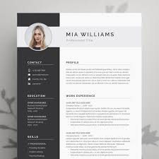 Resume Modern Format Resume Template Resume Template Word Resume With Photo