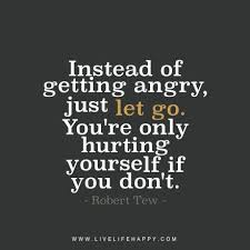Hurting Yourself Quotes Best of Instead Of Getting Angry Just Let Go You're Only Hurting Yourself