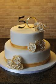 11 Golden 50th Anniversary Cakes Photo Black And Gold 50th Wedding