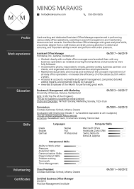 Sample Office Manager Resumes Resume Examples By Real People Assistant Office Manager