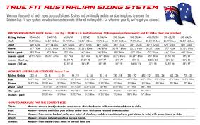 Dririder Jacket Size Chart Dririder Size Chart