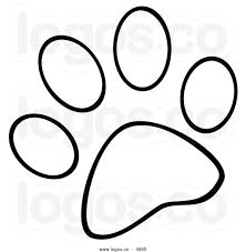 bulldog paw print outline. Simple Outline Bulldog20paw20print Intended Bulldog Paw Print Outline