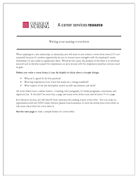 Nursing Cover Letter Format Image Collections Cover Letter Ideas