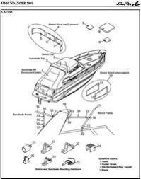 sea ray® 310 sundancer, 1999 2002, factory original (oem) canvas 1990 Sea Ray Wiring Diagram photo of sea ray 310 sundancer, 2001 parts manual canvas drawing bimini top 1990 sea ray wiring diagram