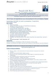 Accounting Resume Format Accountant Sample Professional At Accounts ...