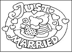Coloring Pages Wedding For Kids Printable Weddingwedding Themed