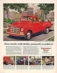 First trucks with thrifty automatic overdrive Studebaker Pickup ...