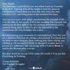 Dear Death The First Tim Quotes Writings By Anuska Ghosh