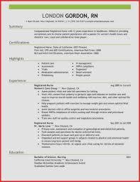 Nursing Resume Template Fresh Unfor Table Registered Nurse Resume ...