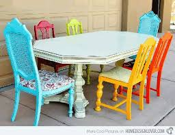a burst of colors from 20 dining sets with multi colored chairs softer colors would also work