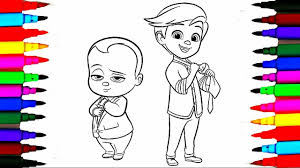 Small Picture Colours For Kids Boss Baby Coloring Pages l Dreamworks Drawing