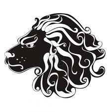 Vektorová Grafika Lev Tetování Astrologie Znamení Vektor Znamení