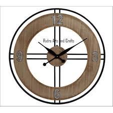 og wood iron decorative wall clock