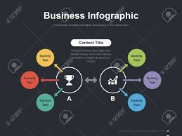 Slide Circle Business Vector Infographic Slide Template 0007 Royalty Free