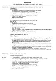 Customer Service Officer Resume Sample Relationship Sales Resume Samples Velvet Jobs 59
