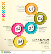 Circle Label Flow Chart Infographics Stock Vector