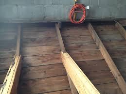 garage roof repair. roof repair for cinderblock garage top plate u0026amp joistsphoto_02jpg