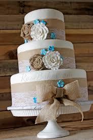 Burlap Lace Rustic Wedding Cake Rose Bakes