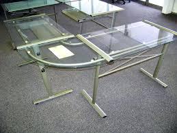glass top l shaped desk image of glass l shaped corner desk ikea galant glass top