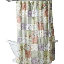 grey and green shower curtain. bauer patchword cotton shower curtain grey and green t
