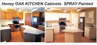 Painting Oak Kitchen Cabinets White Stunning Refinishing Oak Kitchen Cabinets Painting Oak Kitchen Cabinets