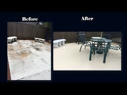 diy refinishing a concrete patio floor