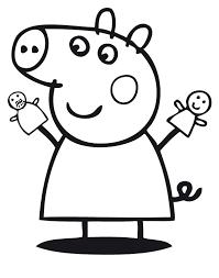 Peppa Pig Con Marionette Disegno Da Colorare Gratis Disegni Da