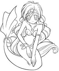 Small Picture Coloring pages mermaid melody picture 12