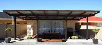 flat roof pergolas