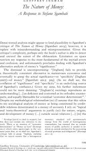 The Nature Of Money European Journal Of Sociology Archives