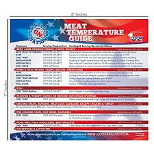 Meat Cooking Chart Best Magnetic Meat Temperature Guide Chart For Outdoor And Indoor Use Includes All Meats For Kitchen Cooking Use Cookart Thermometer To Check