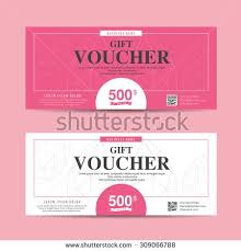 coupon design vector illustration gift voucher template with colorful pattern cute